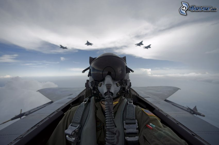 pilot, stíhačky
