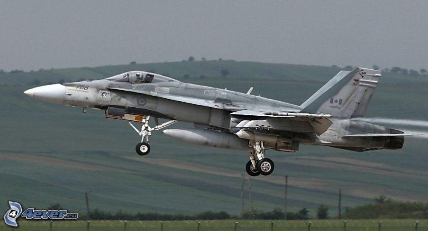 CF-188 Hornet, pohorie, vzlet