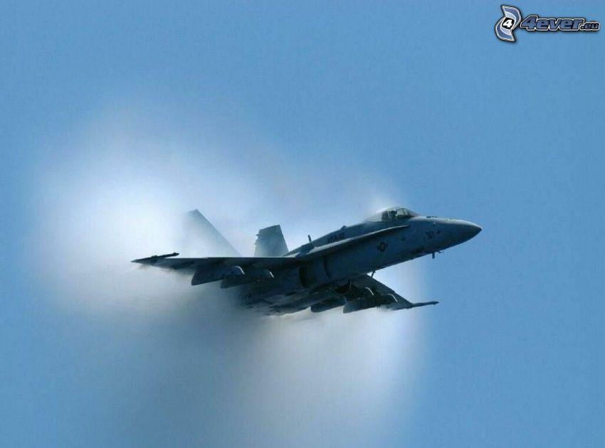 F/A-18 Hornet, zvuková bariéra