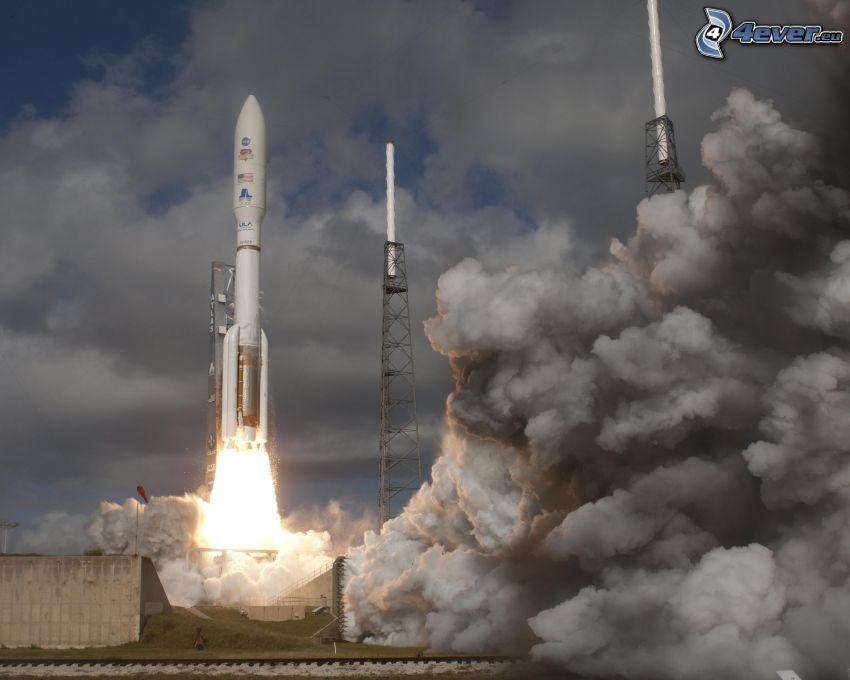 Atlas V, raketa, Mars Science Laboratory, štart rakety