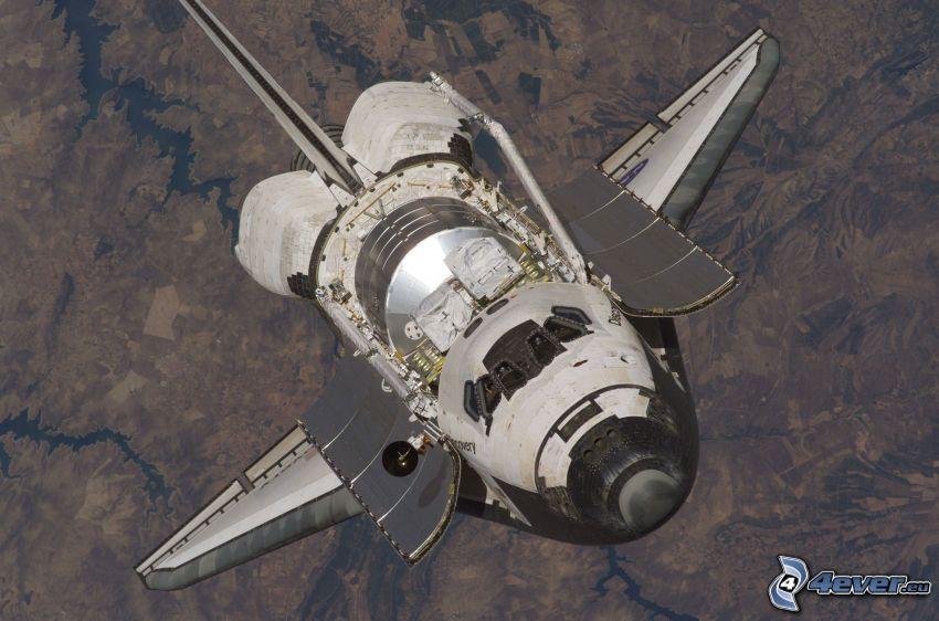 raketoplán Discovery, vesmír, Zem