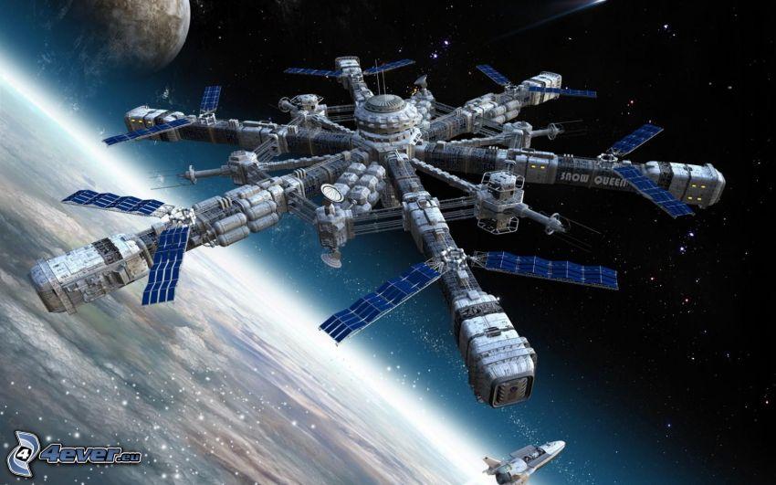 vesmírna loď, sci-fi