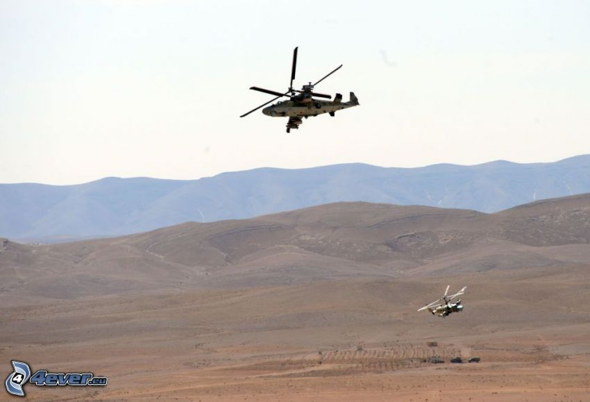 Ka-52, púšť