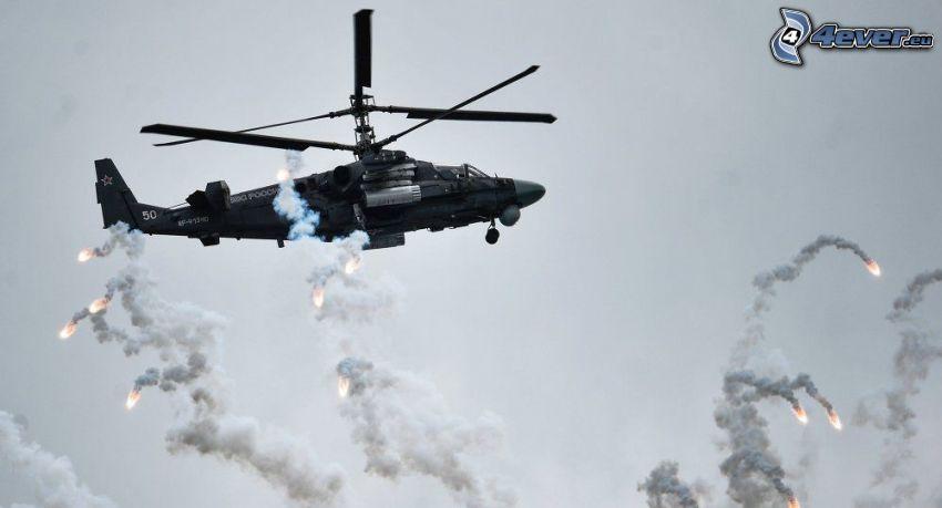 Ka-52, streľba