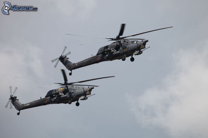vojenské vrtuľníky