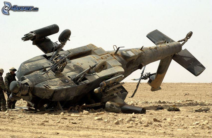 vojenský vrtuľník, havária