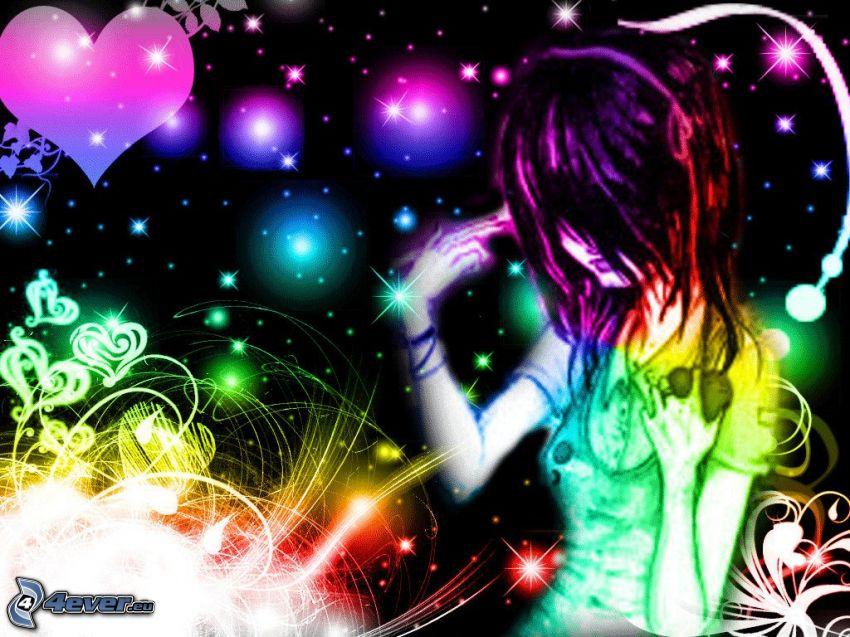 farebné dievča
