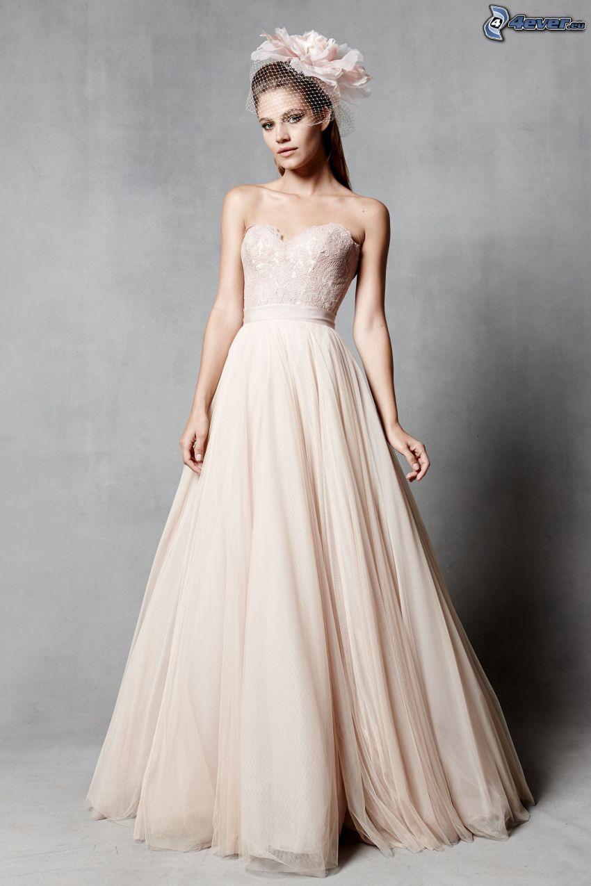 svadobné šaty, nevesta, čelenka
