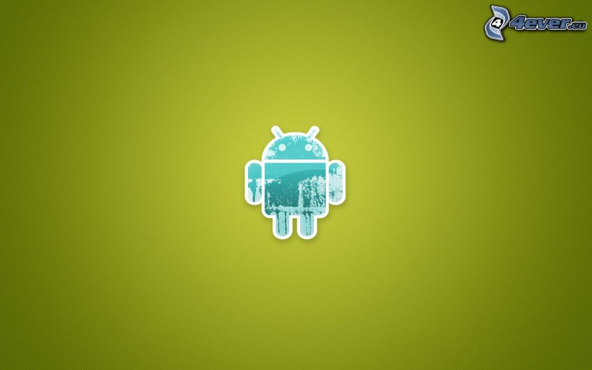 Android, zelené pozadie