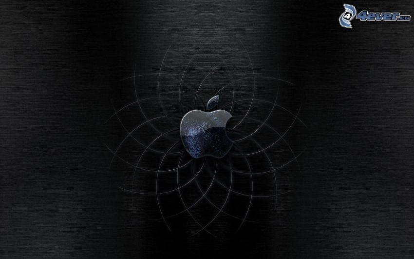 Apple, čierne pozadie