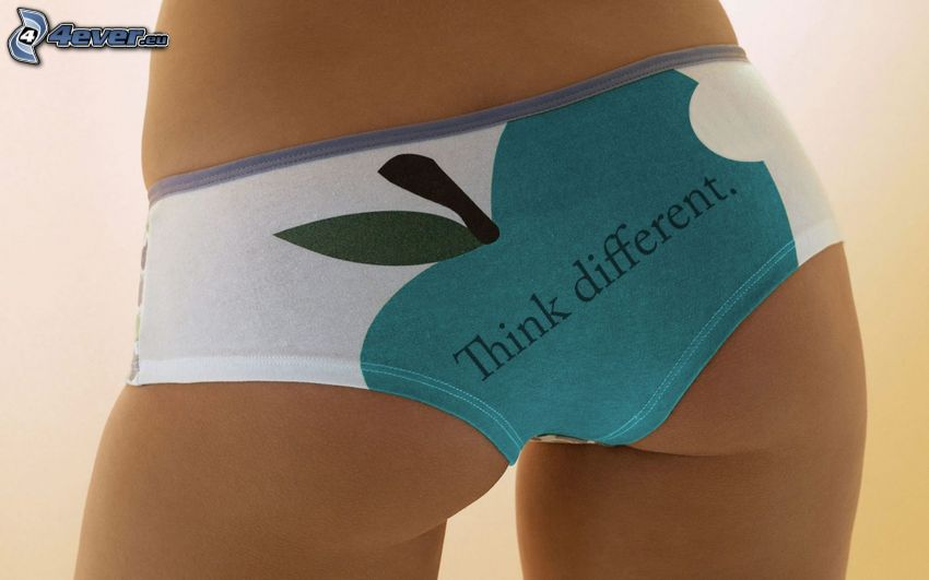 Apple, nohavičky, sexi zadok