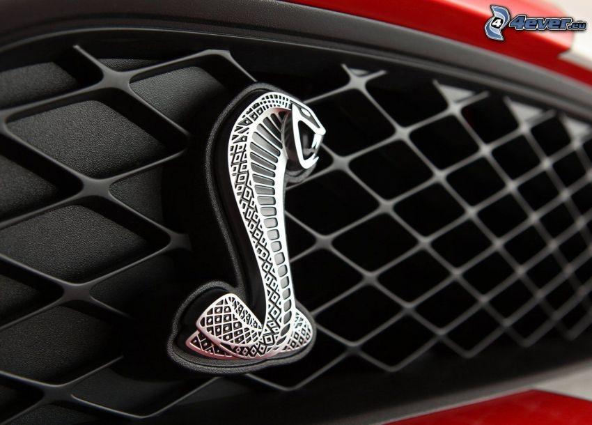 logo, Ford Mustang Shelby GT500, predná maska