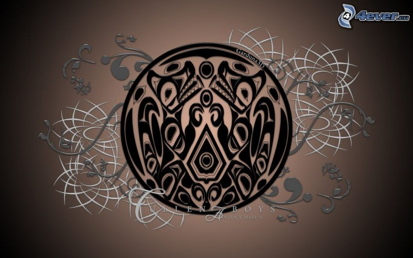 Quileute, znak, piktogram, amulet, symbol
