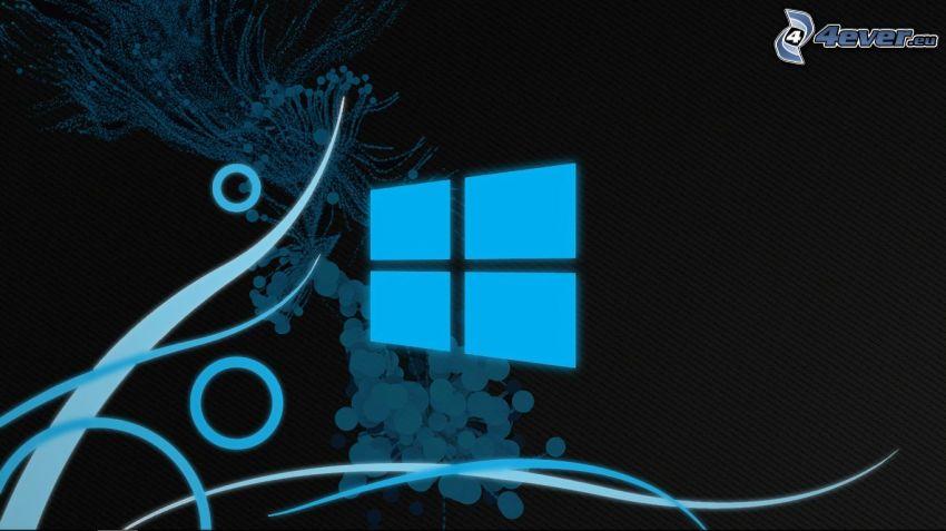 Windows 8, modré čiary, krúžky