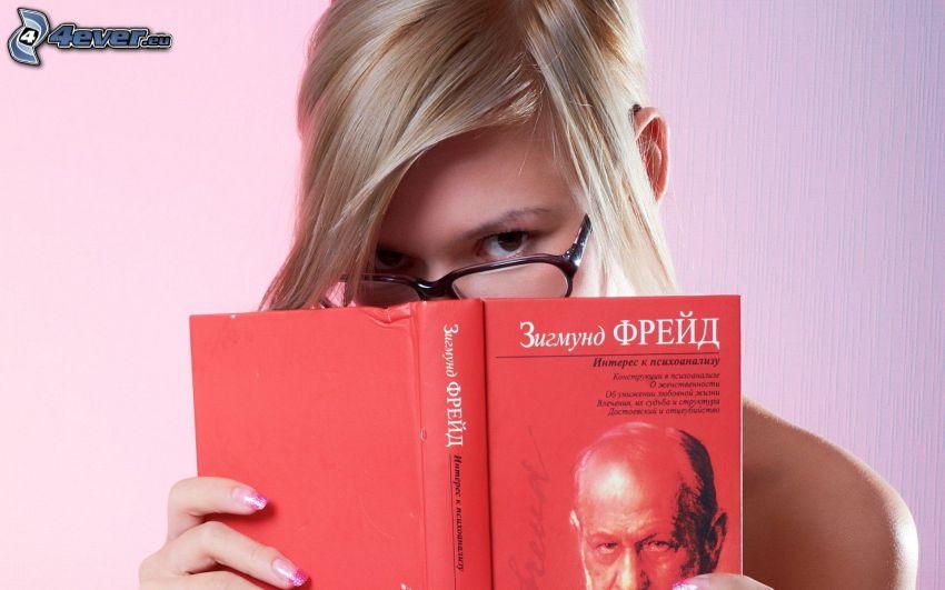 blondínka, kniha