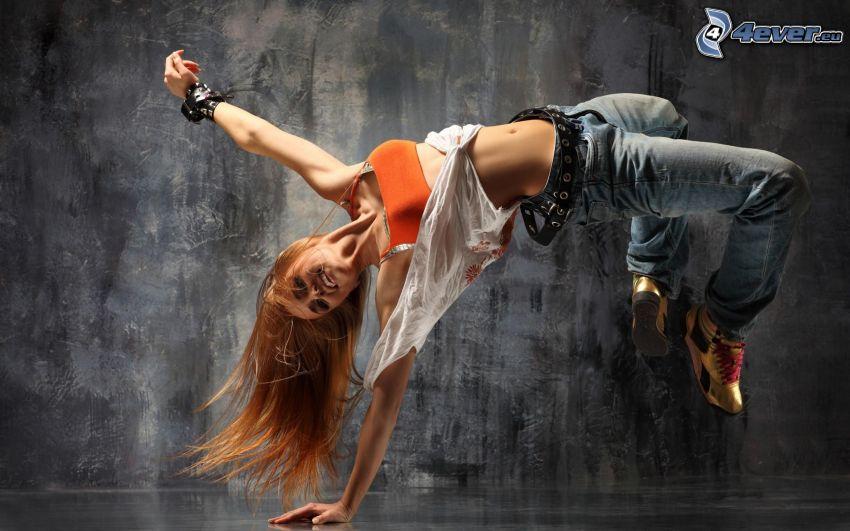 breakdance, blondínka