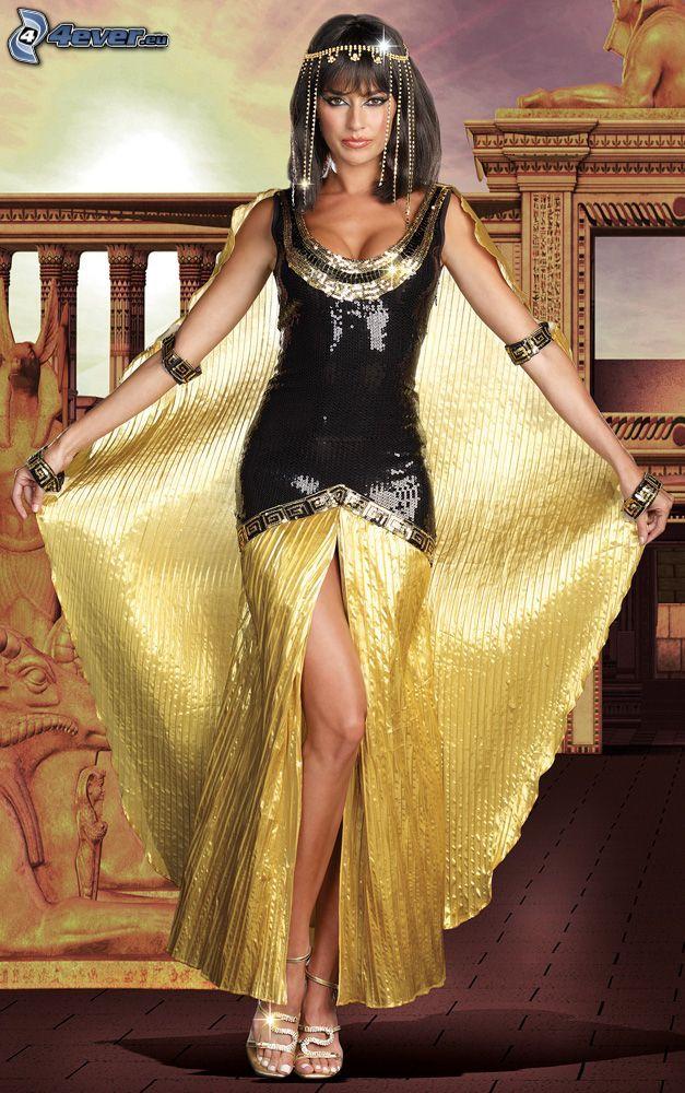 brunetka, kostým, Kleopatra