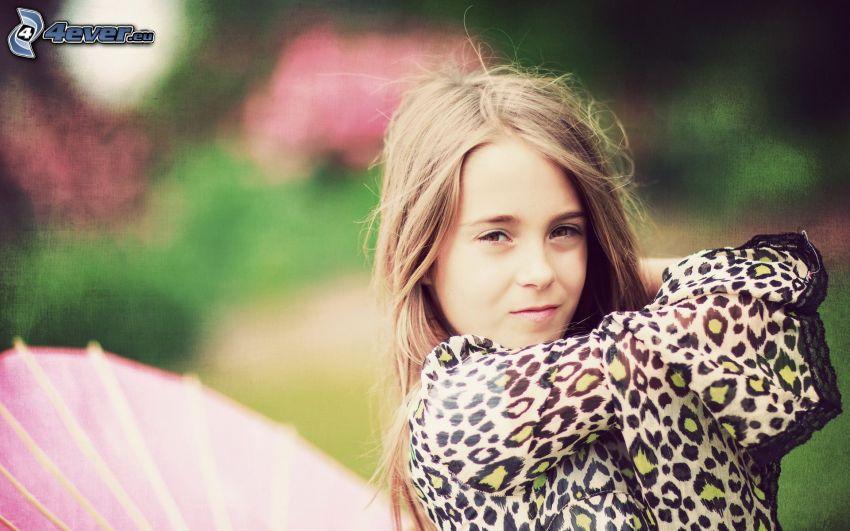 dievča, leopardí vzor