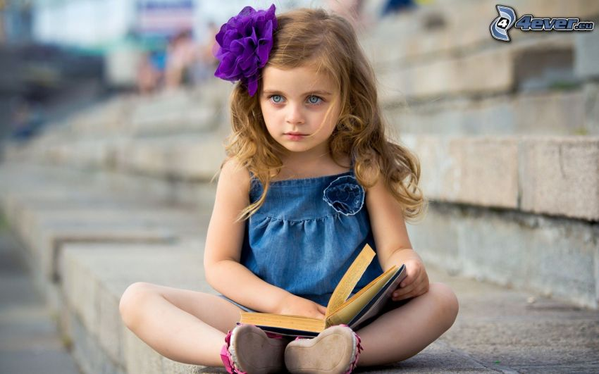 dievčatko, kniha