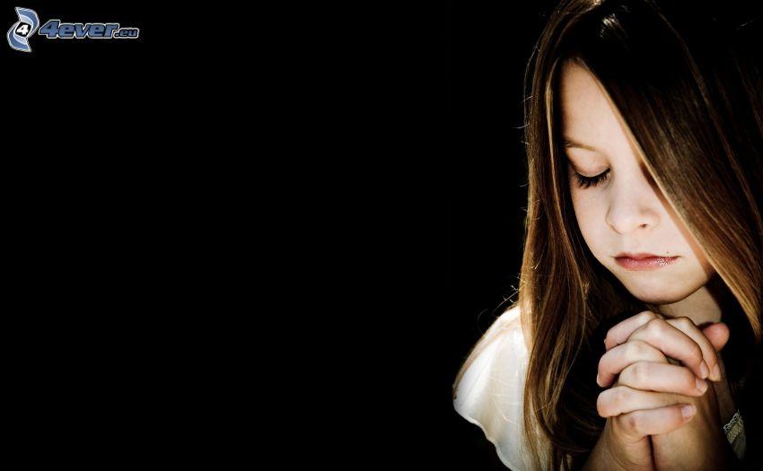 dievčatko, modlitba