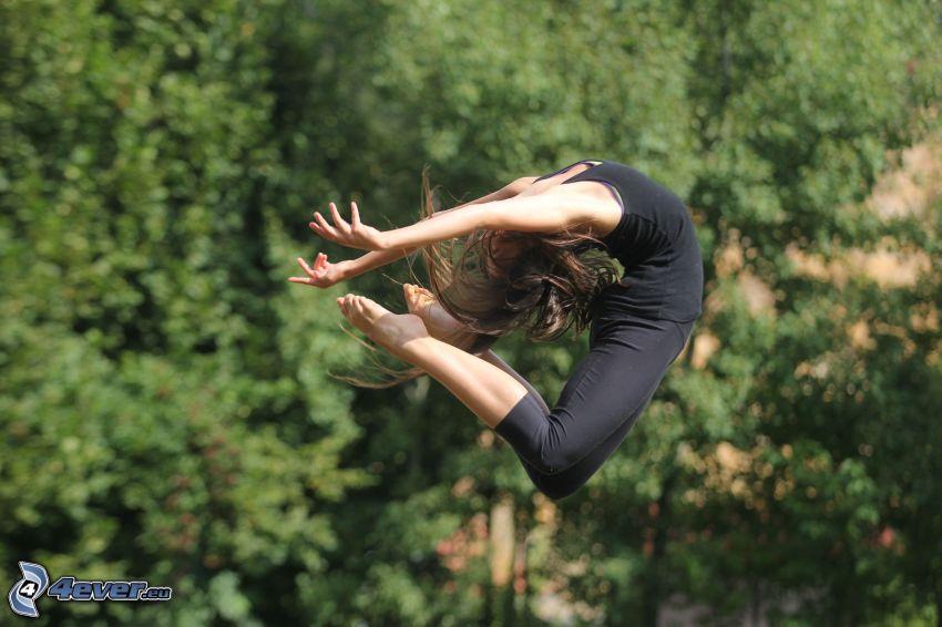gymnastka, výskok