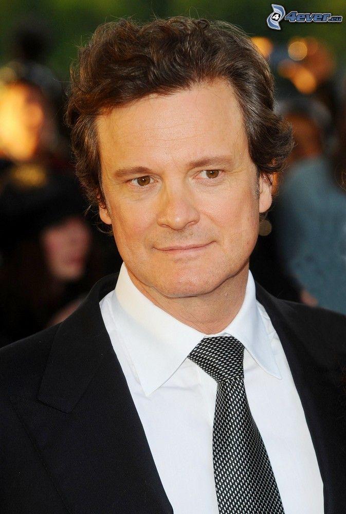 Colin Firth, muž v obleku, pohľad