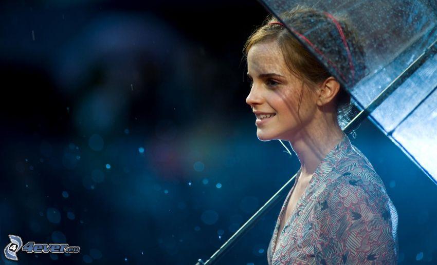 Emma Watson, dievča s dáždnikom