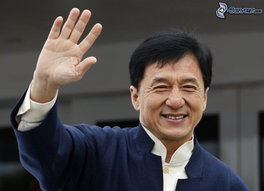 Jackie Chan, pozdrav, úsmev