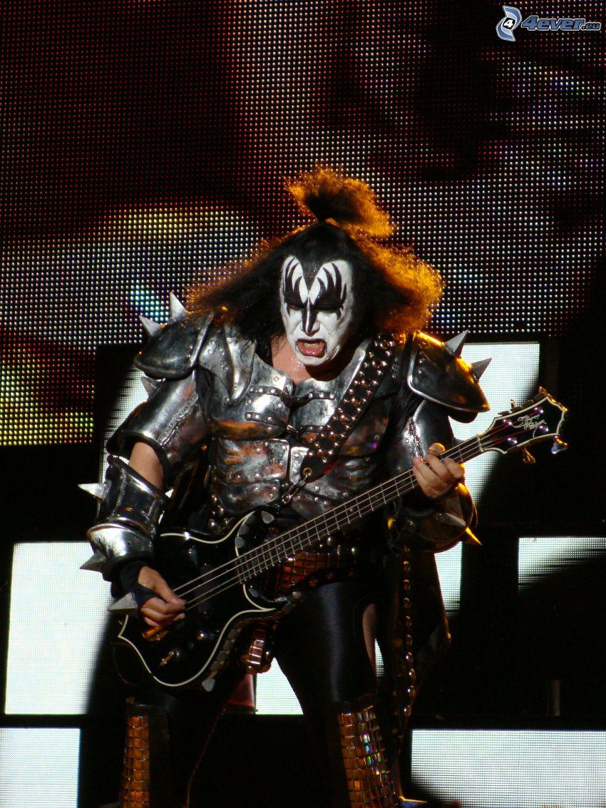 Kiss, koncert, gitarista