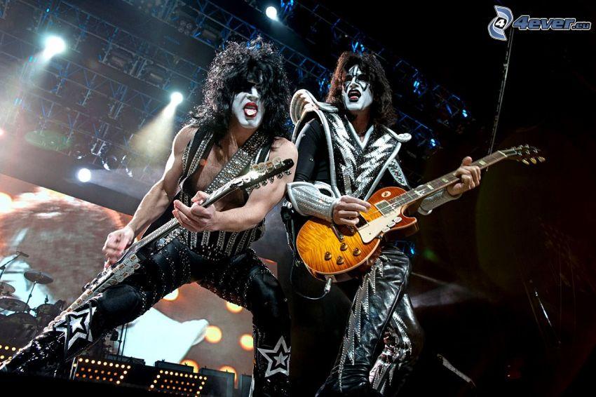 Kiss, koncert, hra na gitare