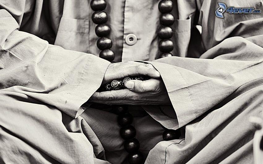 mních, modlitba