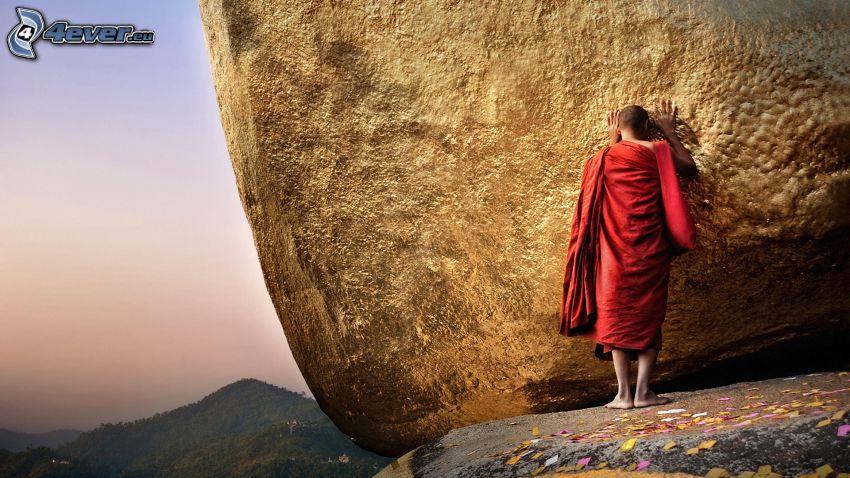 mních, skala