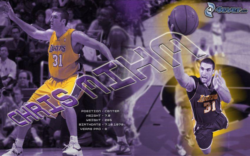 Chris Mihm, LA Lakers, NBA, basketbalista, basketbal, muž, chlap