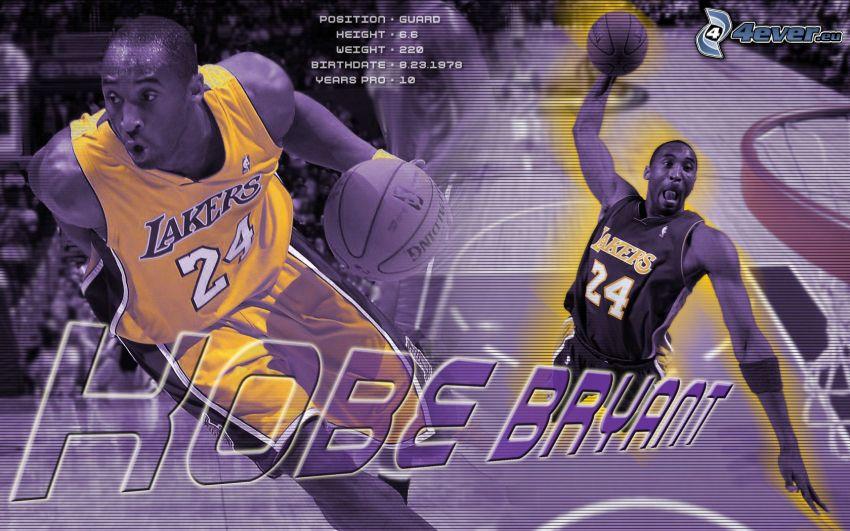 Kobe Bryant, LA Lakers, NBA, basketbalista, basketbal, muž, chlap