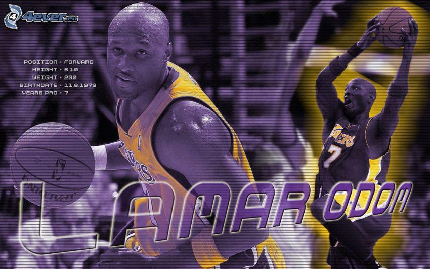 Lamar Odom, LA Lakers, NBA, Los Angeles, basketbalista, basketbal, muž, chlap