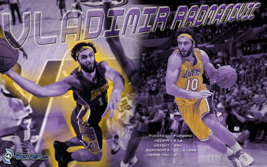 Vladimir Radmanovič, LA Lakers, NBA, Los Angeles, basketbalista, basketbal, muž, chlap