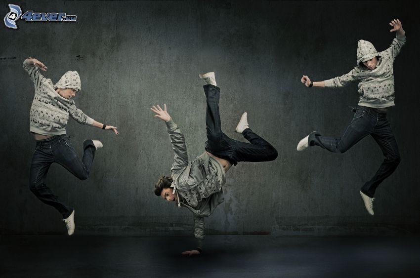 tanečníci, breakdance