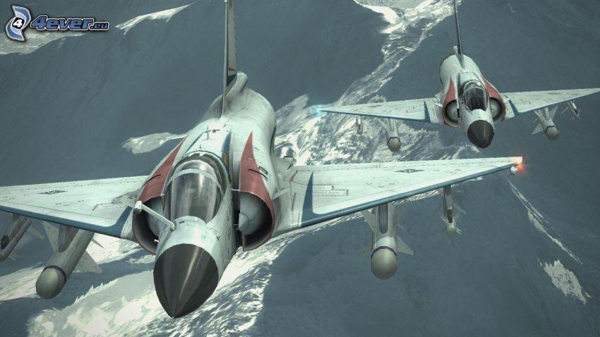 Ace Combat 6, stíhačky