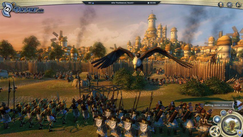 Age of Wonders, armáda, dedina, plot