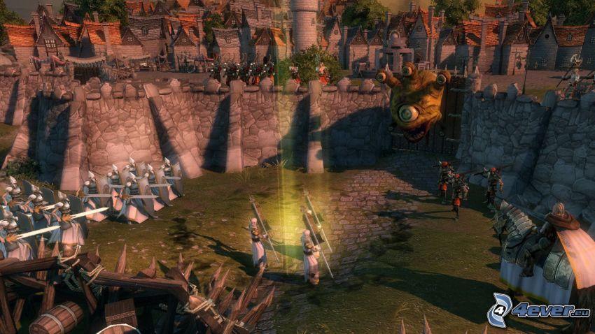 Age of Wonders, opevnenie, armáda, pevnosť, dedina