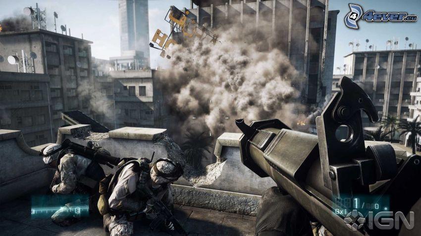 Battlefield 3, first-person, vojaci, deštrukcia