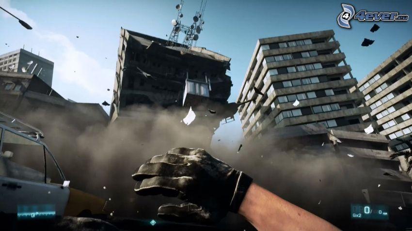 Battlefield 3, first-person, vojna, deštrukcia