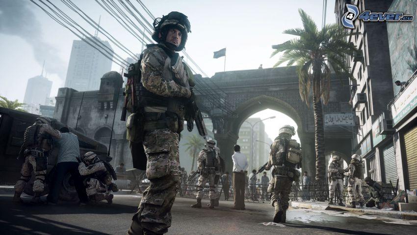 Battlefield 3, vojak, mesto