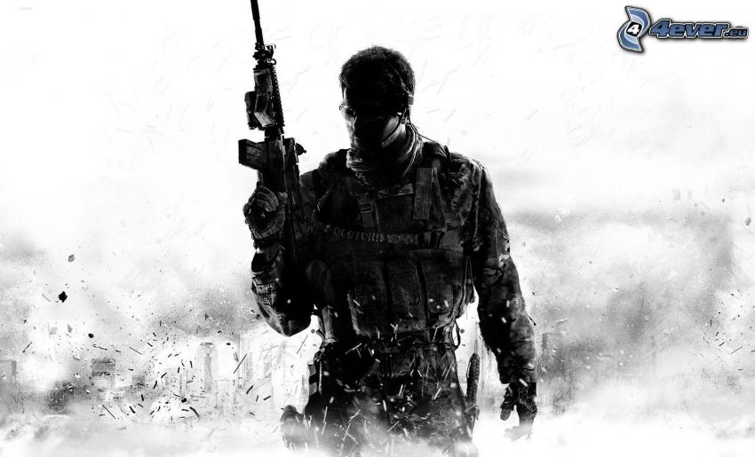 Call of Duty, muž so zbraňou