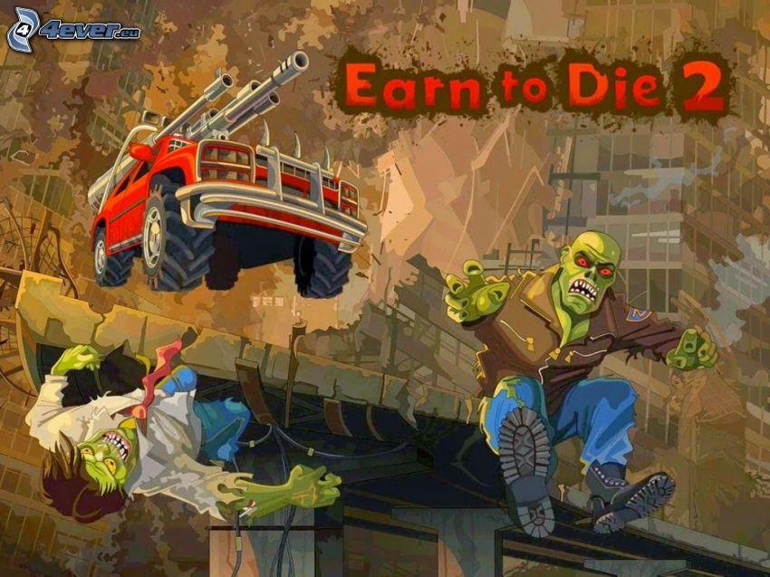 Earn to Die 2, zombie