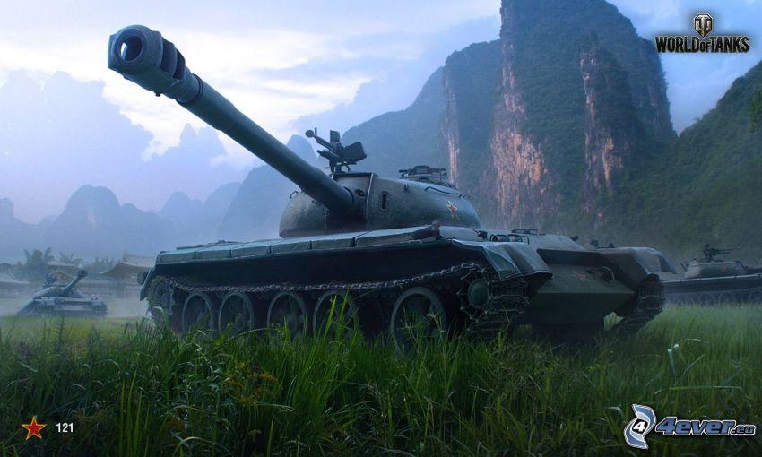 World of Tanks, skalnatá hora