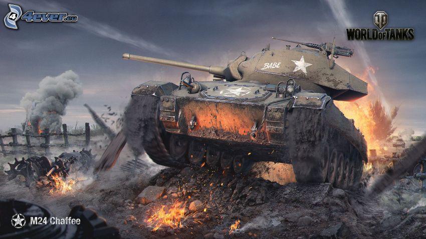 World of Tanks, tank, bitka