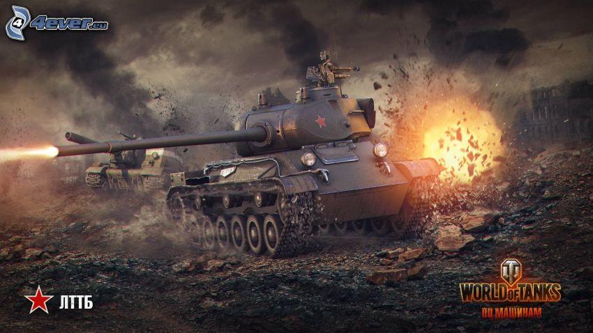 World of Tanks, tanky, boj, oheň