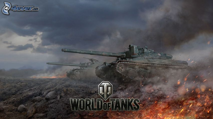 World of Tanks, tanky, dym