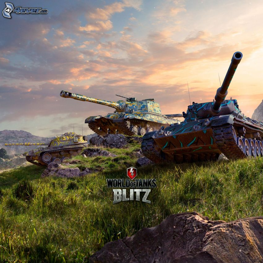 World of Tanks, tanky, oblaky